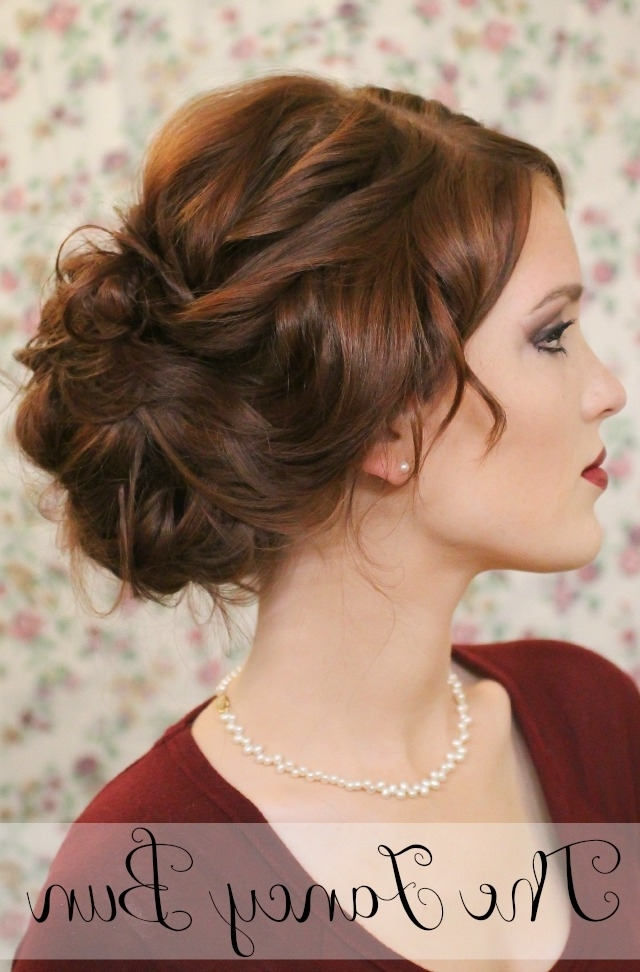 The Freckled Fox: Holiday Hair Week: The Fancy Bun Pertaining To Fancy Updo With A Side Ponytails (View 16 of 25)