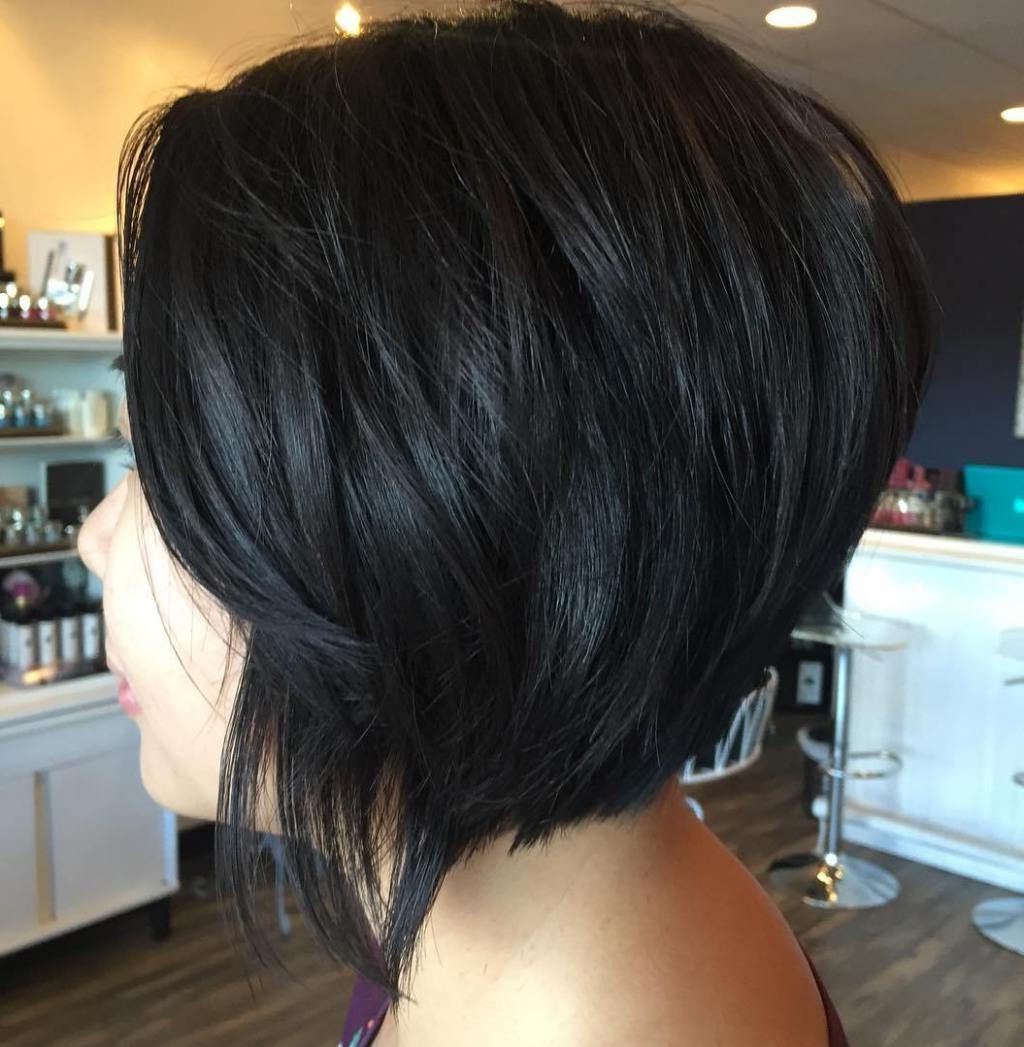 The Full Stack: 50 Hottest Stacked Haircuts | Hairstyles | Pinterest Pertaining To Short Black Bob Haircuts (View 21 of 25)