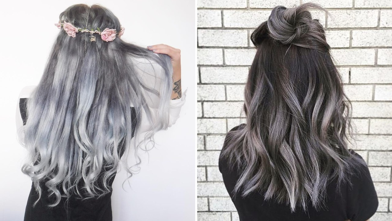 The Gray Hair Trend: 32 Instagram Worthy Gray Ombré Hairstyles – Allure Inside White Blonde Curly Layered Bob Hairstyles (View 12 of 25)