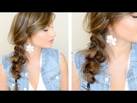 The Messy Side Braid – Youtube Pertaining To Flowy Side Braid Ponytail Hairstyles (View 4 of 25)