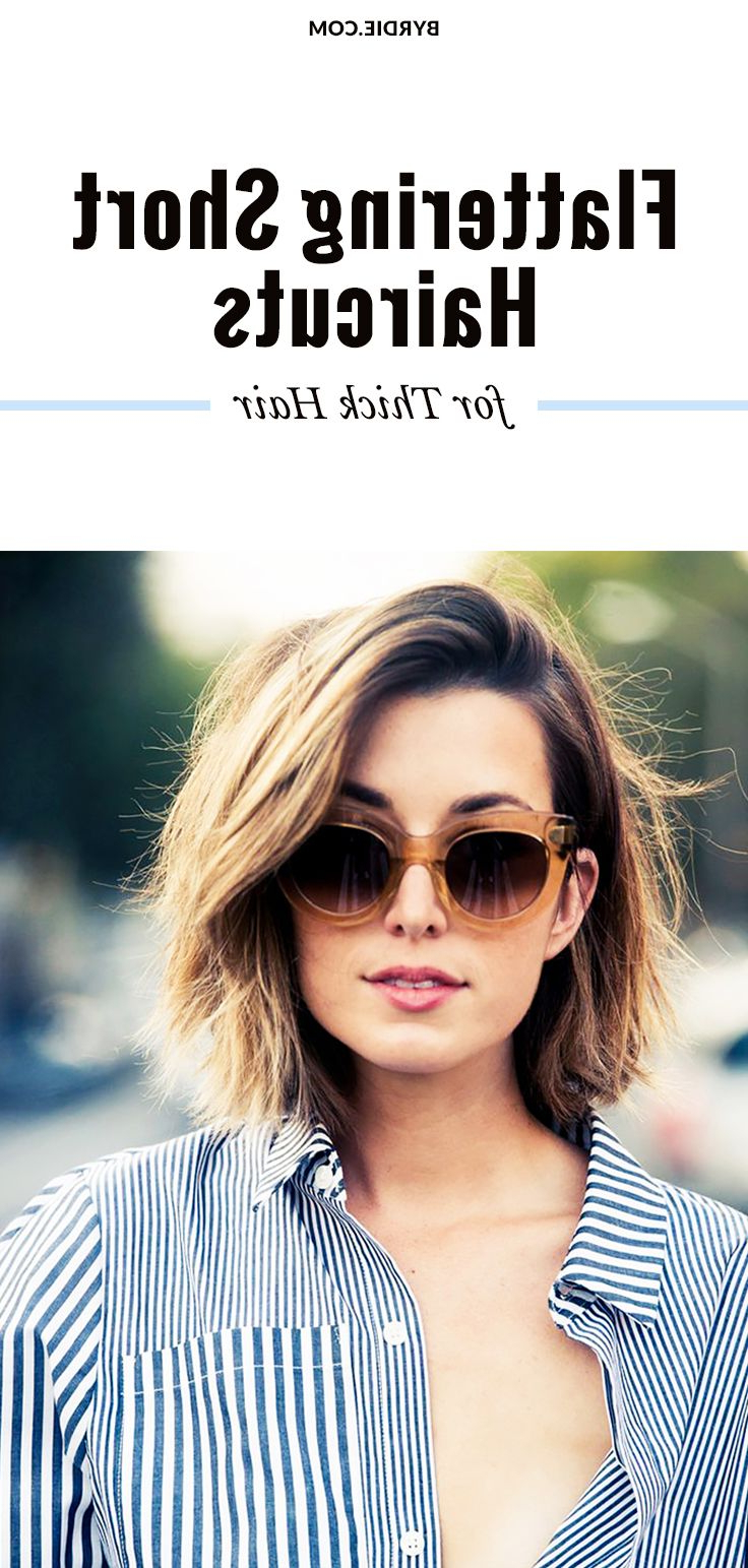 The Most Flattering Short Haircuts For Thick Hair In 2018 | Hair Throughout Short Hairstyles For Thick Hair Long Face (View 23 of 25)