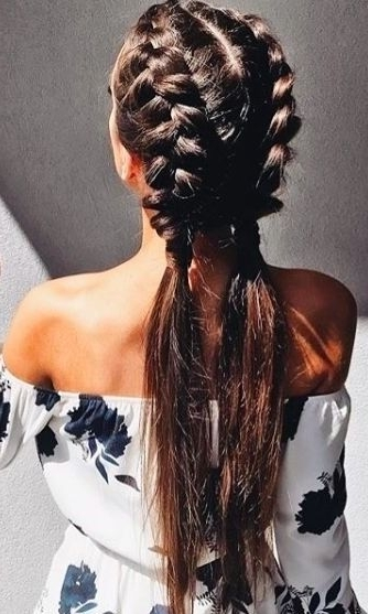 The One Hairstyle Fashion Girls Will Be Wearing This Spring | Hair In Beach Friendly Braided Ponytails (View 7 of 25)