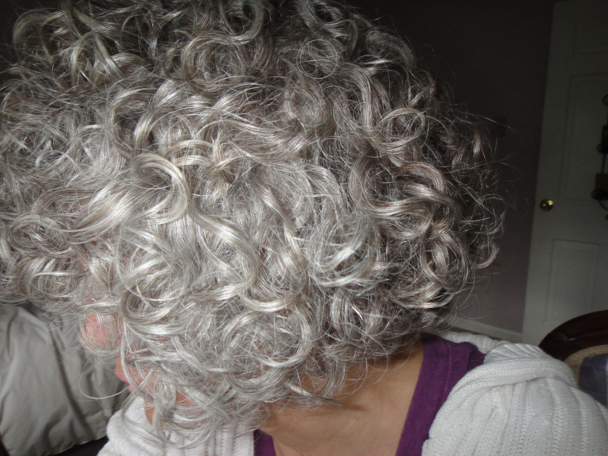 The Only Thing Better Than Gray Hair Is Curly Gray Hair! Me In A With Short Haircuts For Coarse Gray Hair (View 12 of 25)