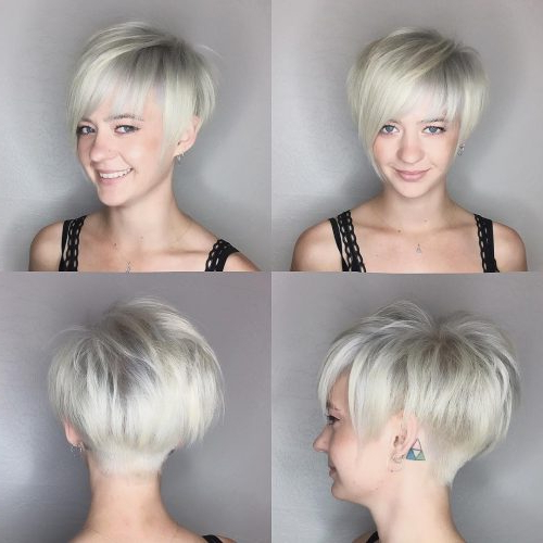 The Short Pixie Cut – 39 Great Haircuts You'll See For 2018 For Choppy Pixie Bob Haircuts With Stacked Nape (View 20 of 25)