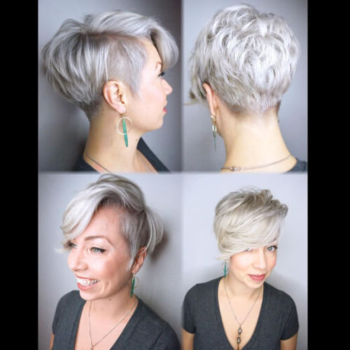 The Short Pixie Cut – 39 Great Haircuts You'll See For 2018 In Sleek Metallic White Pixie Bob Haircuts (View 11 of 25)