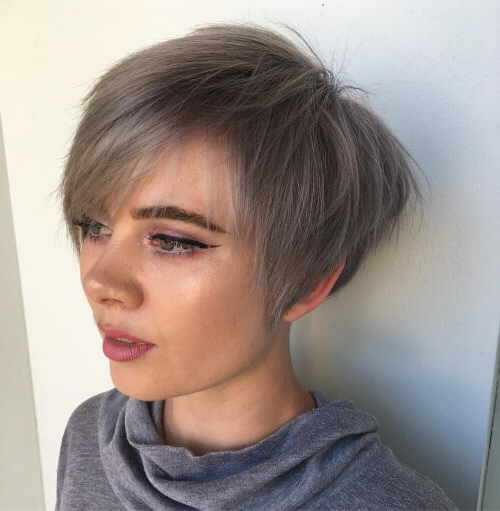 The Short Pixie Cut – 39 Great Haircuts You'll See For 2018 In Sleek Metallic White Pixie Bob Haircuts (View 4 of 25)