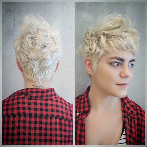 The Short Pixie Cut – 39 Great Haircuts You'll See For 2018 Inside Long Blonde Pixie Haircuts With Root Fade (View 23 of 25)