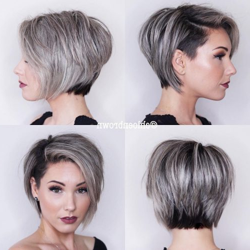 The Short Pixie Cut – 39 Great Haircuts You'll See For 2018 Inside Sleek Metallic White Pixie Bob Haircuts (View 13 of 25)