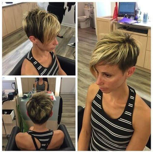 The Short Pixie Cut – 39 Great Haircuts You'll See For 2018 Pertaining To Long Blonde Pixie Haircuts With Root Fade (View 16 of 25)