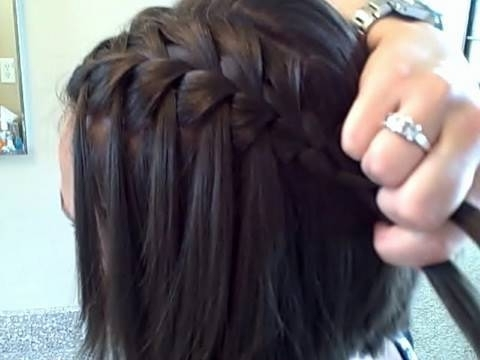 The Waterfall Braid (Diy) | Cute Girls Hairstyles – Youtube In Cascading Braided Ponytails (View 24 of 25)