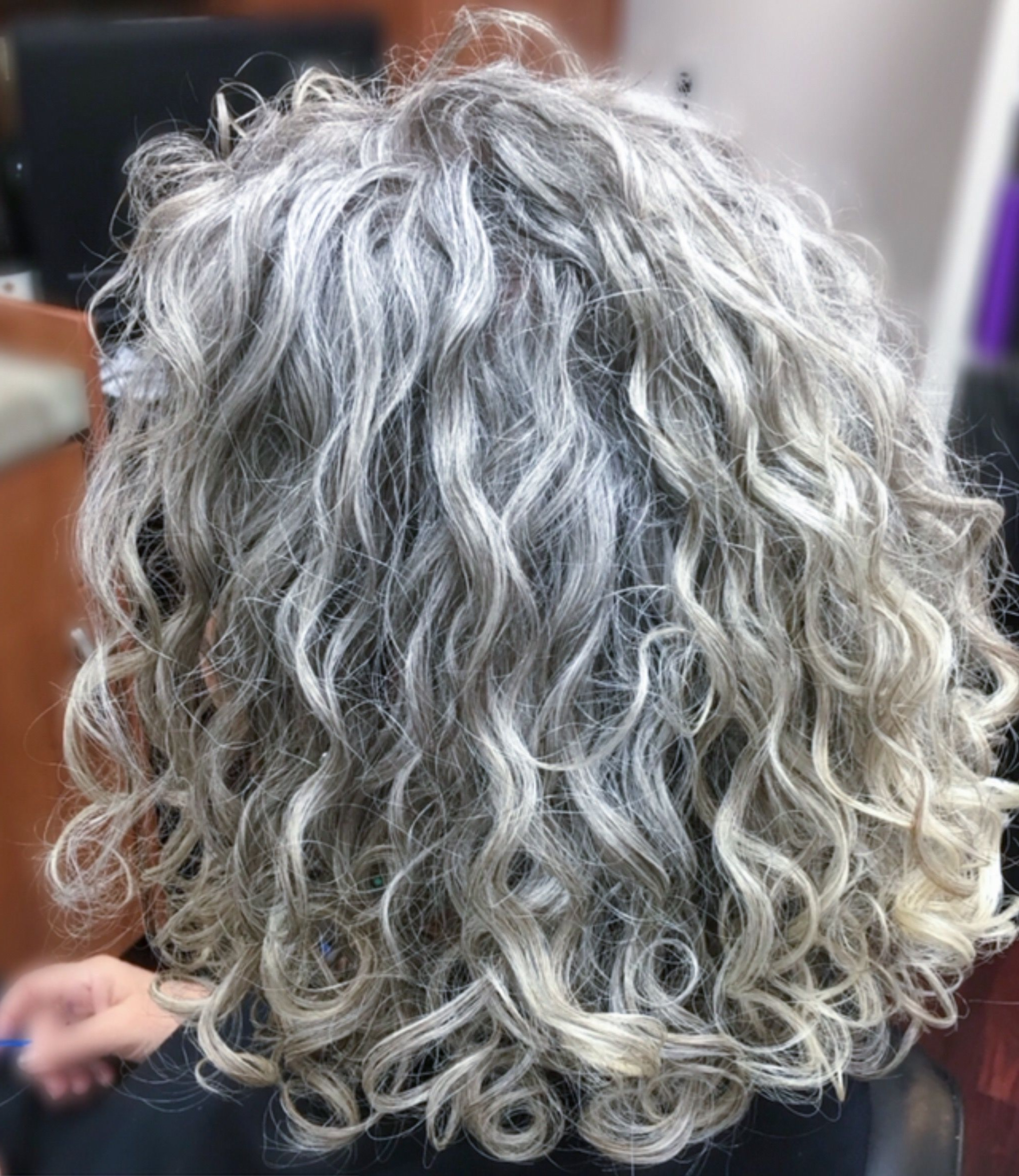 Thick, Wavy, Curly Natural Grey Hair (View 17 of 25)
