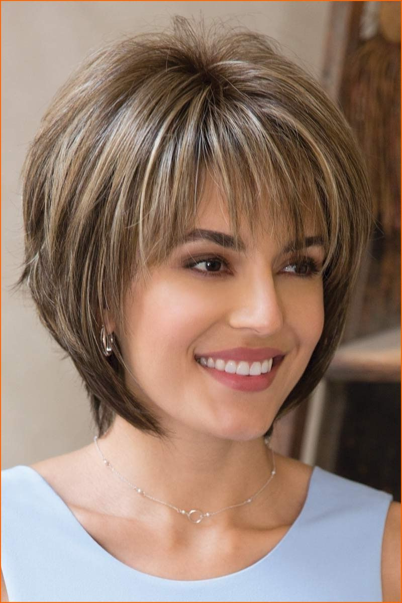 Thin Hair Short Layered Hairstyles Thick Hair Look For Women 2018 Inside Trendy Short Hairstyles For Thin Hair (View 19 of 25)