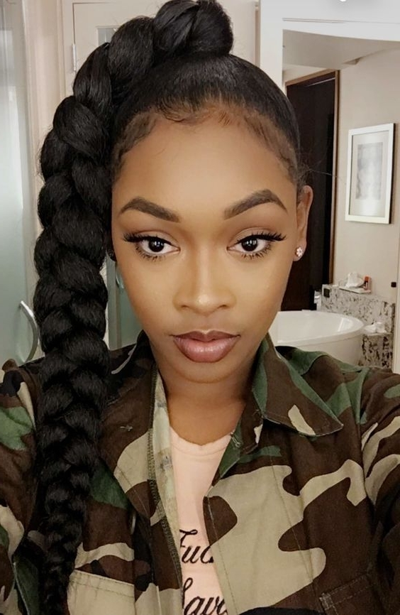This Style Is Jumbo Braid Ponytail,it Is Made24Inch Black Jumbo In Multicolored Jumbo Braid Ponytail Hairstyles (View 6 of 25)