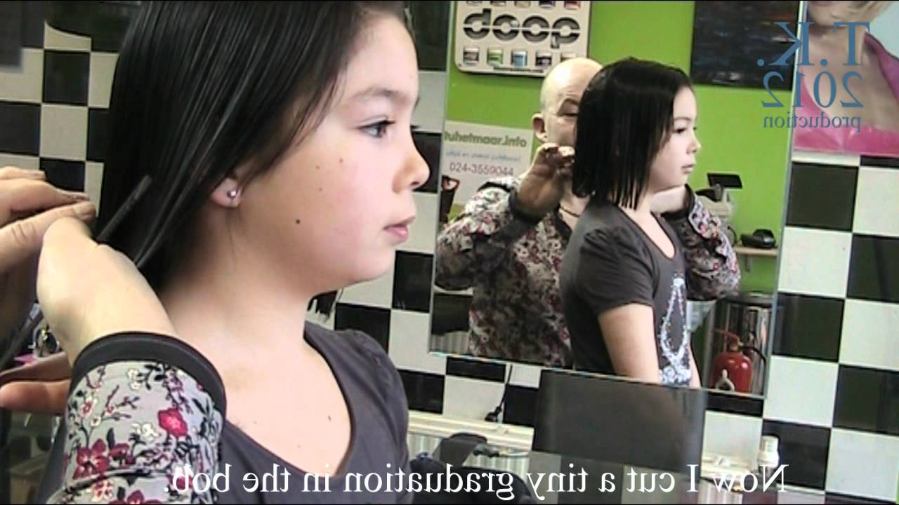 This Young Girl Wants A Bob, Long To Short Haircut Of Kikatheo Within Young Girl Short Hairstyles (View 24 of 25)