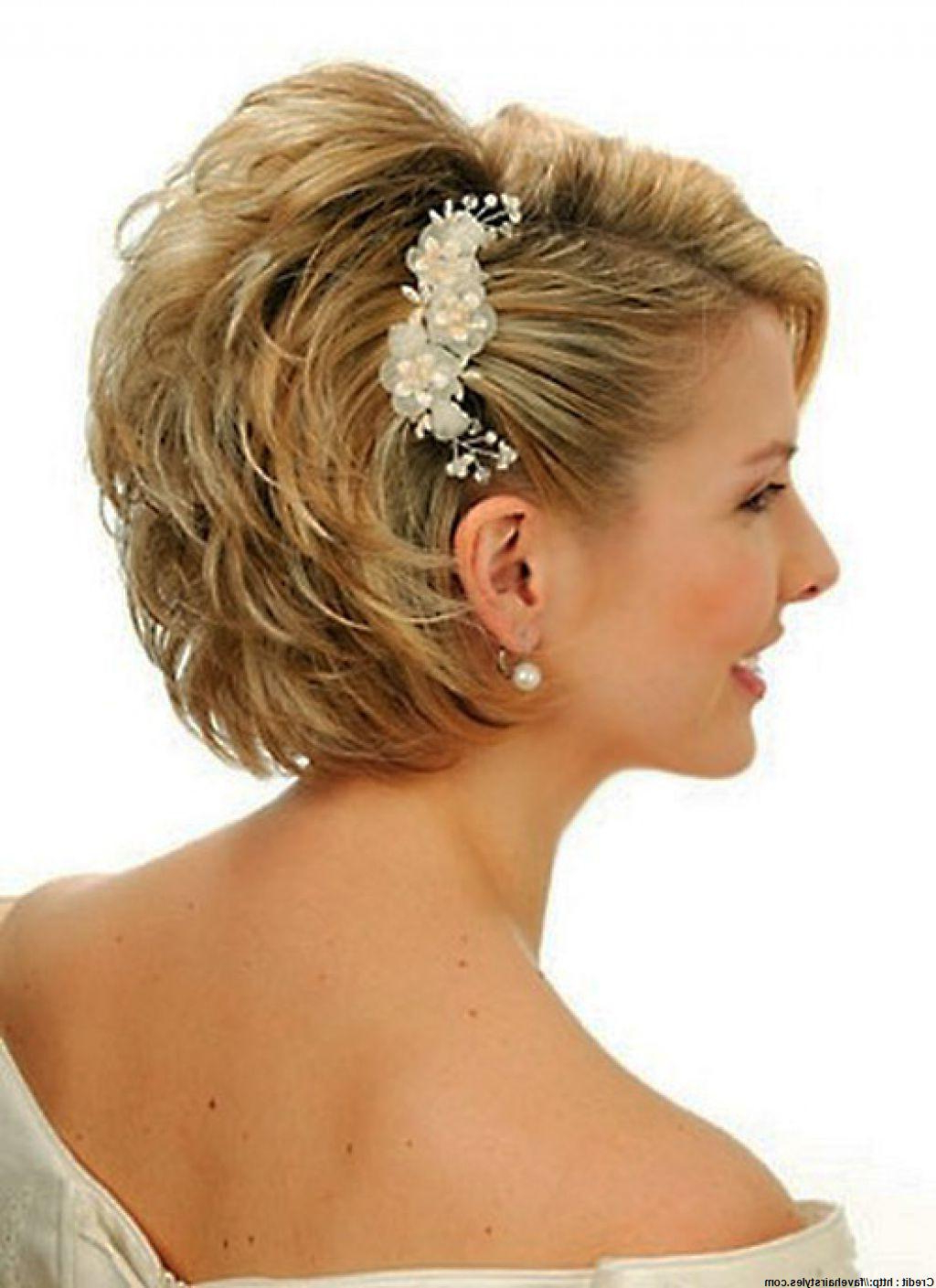 Tips To Get Elegant Wedding Hairstyles For Short Hair – Fast Think Site! Inside Bridal Hairstyles Short Hair (View 7 of 25)