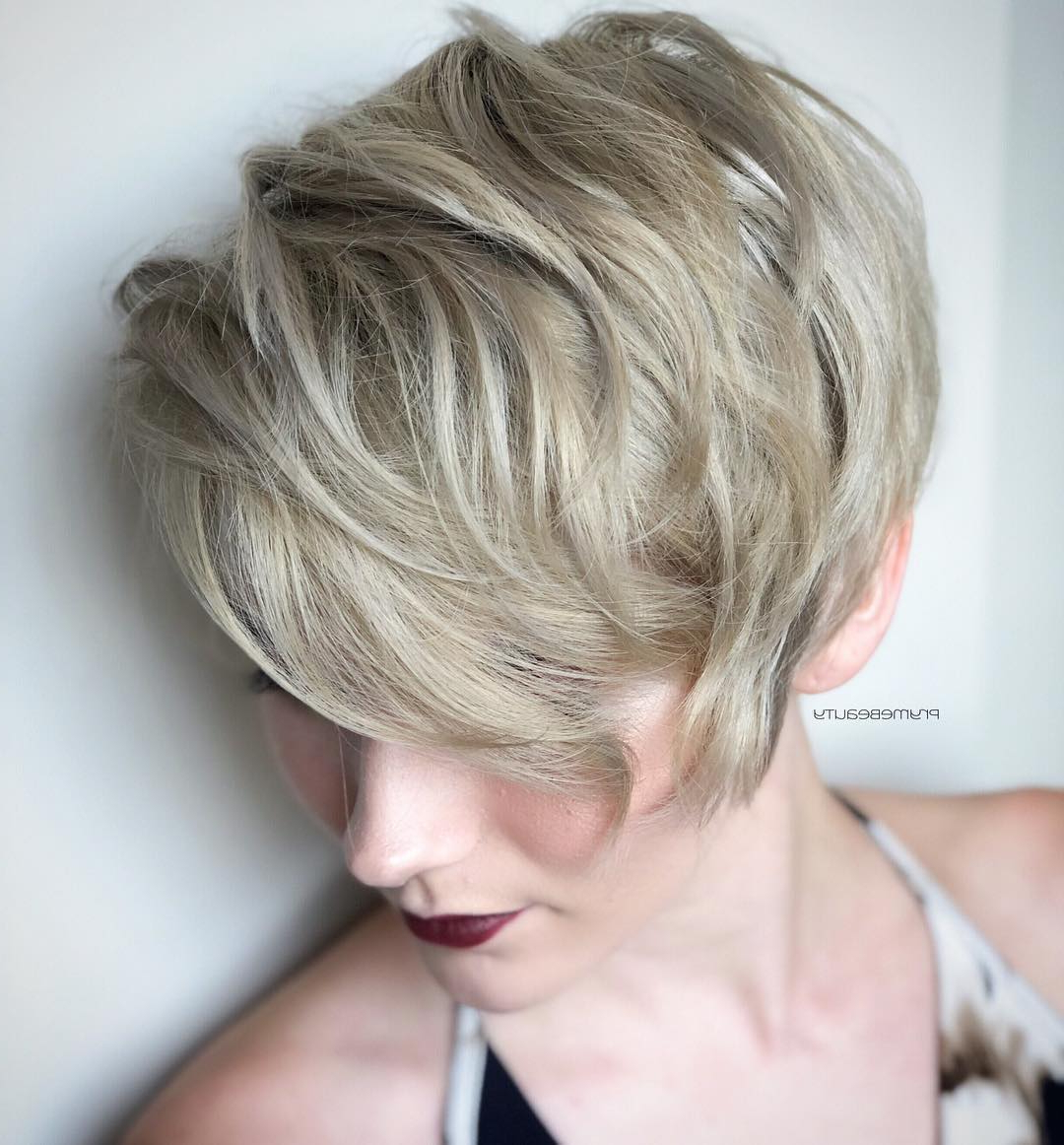 Top 10 Trendy, Low Maintenance Short Layered Hairstyles For 2018  2019 Inside Short Haircuts For Voluminous Hair (View 21 of 25)