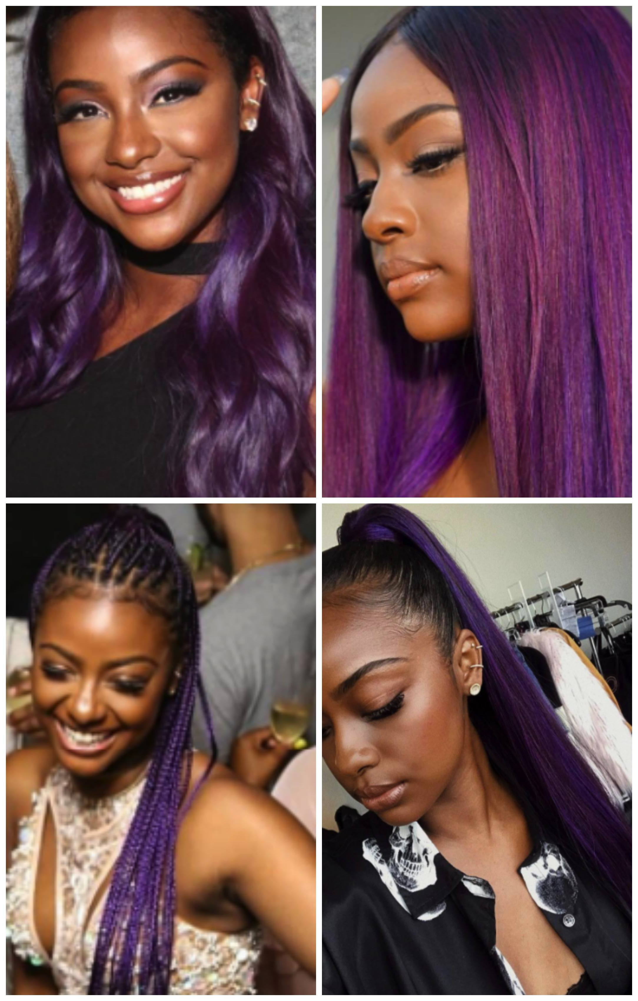 Top 13 Cute Purple Hairstyles For Black Girls This Season With Regard To Purple And Black Short Hairstyles (View 12 of 25)