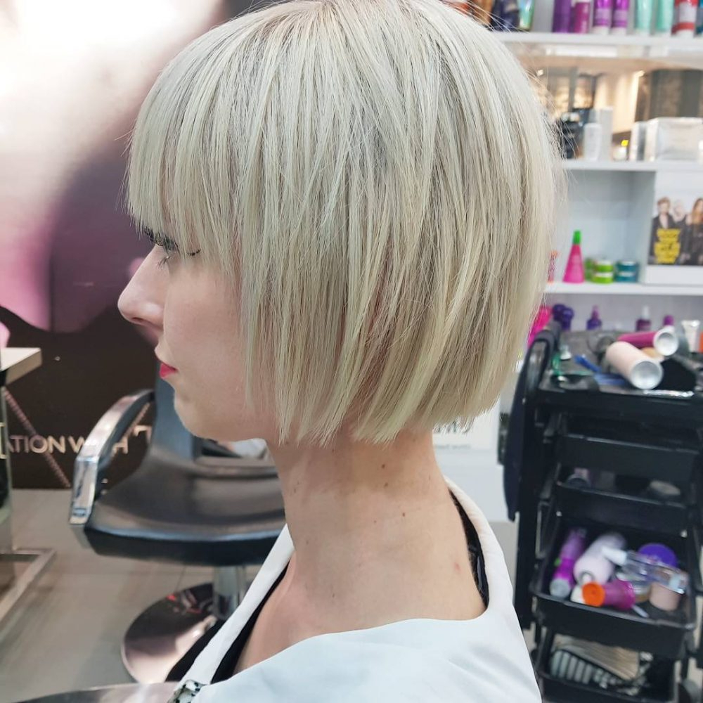 Top 36 Short Blonde Hair Ideas For A Chic Look In 2018 Inside White Blonde Curly Layered Bob Hairstyles (View 16 of 25)