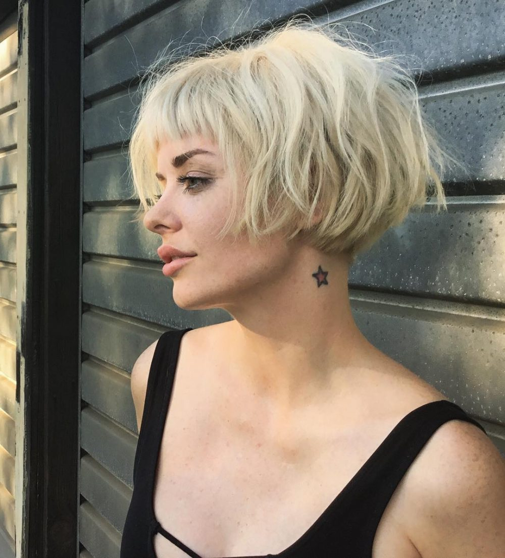 Top 36 Short Blonde Hair Ideas For A Chic Look In 2018 Throughout Short Blonde Hair With Bangs (View 2 of 25)