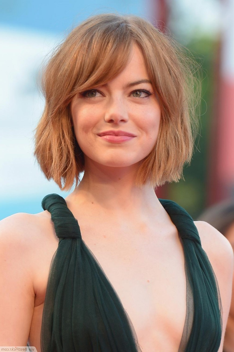 Top 50 Cute Short Hairstyles & Timeless Haircuts For Girls   Bestpickr Regarding Short Haircuts With Side Fringe (View 7 of 25)