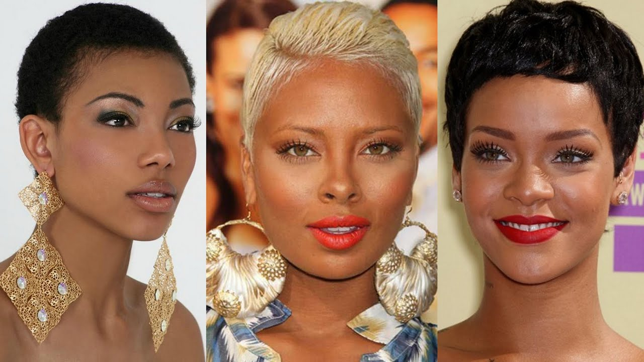 Top 50 Short Hairstyles For Black Women – Youtube Throughout Short Short Haircuts For Black Women (View 2 of 25)