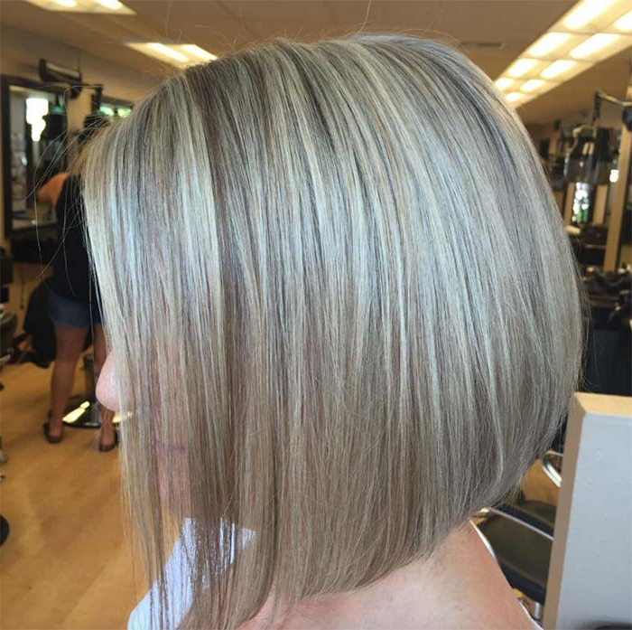 Top 51 Haircuts & Hairstyles For Women Over 50 – Glowsly With Regard To Short Razored Blonde Bob Haircuts With Gray Highlights (View 20 of 25)