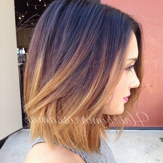 Top Ombre Hair Colors For Bob Hairstyles – Popular Haircuts Intended For Stacked Black Bobhairstyles  With Cherry Balayage (View 22 of 25)
