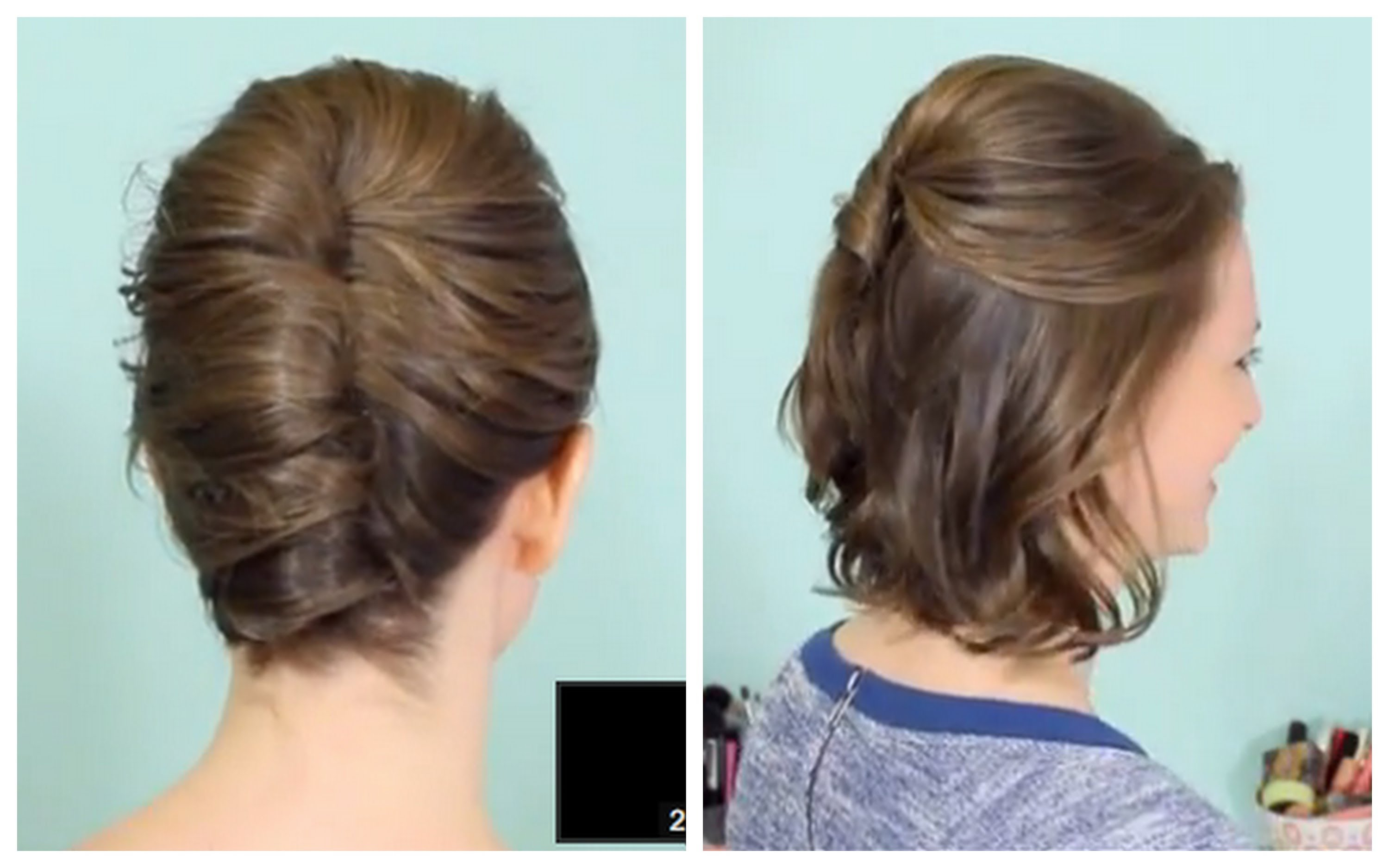 Transform Half Up Half Down Short Hairstyles For Updo Short Pertaining To Half Up Half Down Short Hairstyles (View 18 of 25)