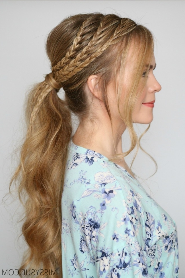 Featured Photo of Triple Braid Ponytail Hairstyles