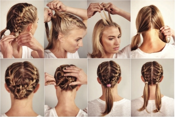 Try A New Race Day 'do With A Double French Braid – Women's Running Pertaining To Double French Braid Crown Ponytail Hairstyles (View 23 of 25)