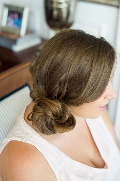 Try This Two Minute Messy Side Bun Tutorial To Look Polished Fast Throughout 2 Minute Side Pony Hairstyles (View 22 of 25)