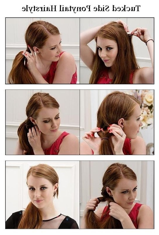 Tucked Style Ponytail Hairstyle | Creativity! ~Tips~Diy~Tutorials Within Creative Side Ponytail Hairstyles (View 14 of 25)