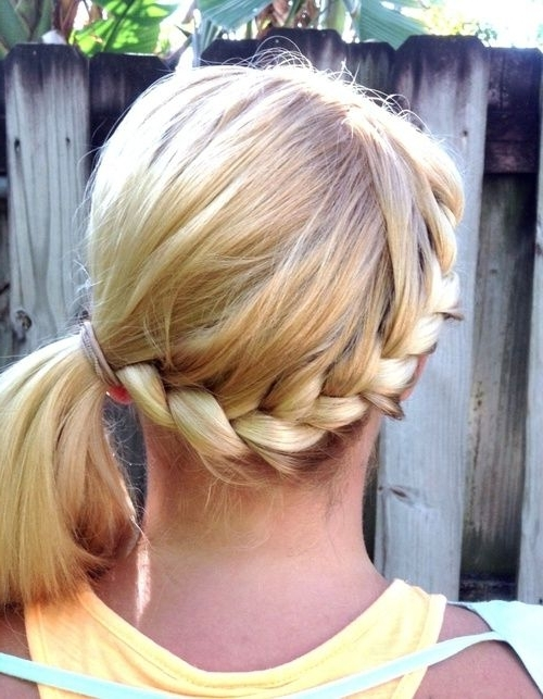 Twisted Blonde Wrap Around Braid Into Side Ponytail | Hair, Hair Throughout Blonde Braided And Twisted Ponytails (View 24 of 25)