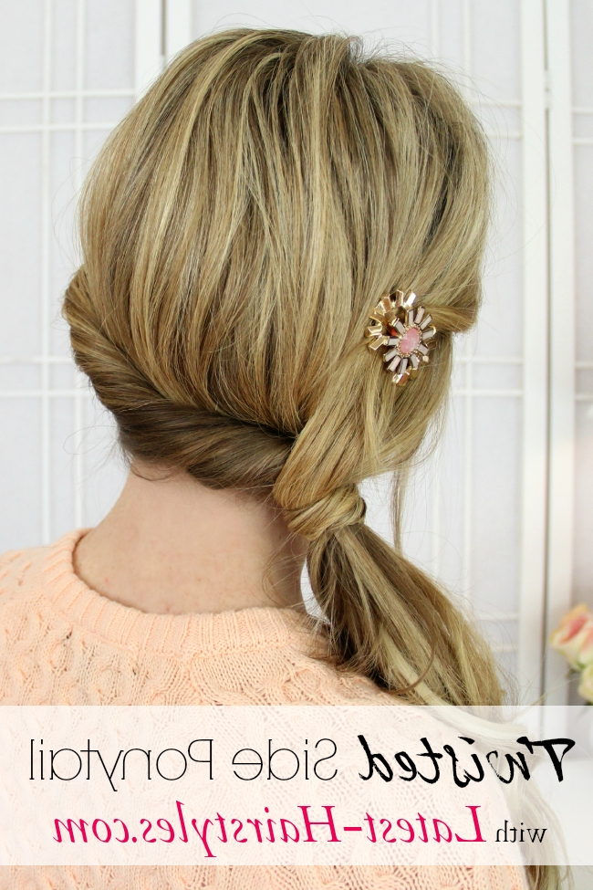 Twisted Side Ponytail Intended For Creative Side Ponytail Hairstyles (View 13 of 25)