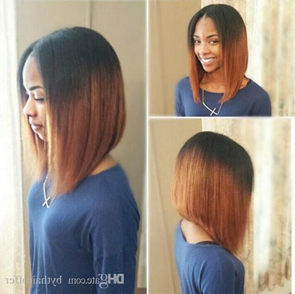 Two Tone Ombre Full Lace Human Hair Wigs T1B 30 Straight Peruvian Within Straight Cut Two Tone Bob Hairstyles (View 19 of 25)