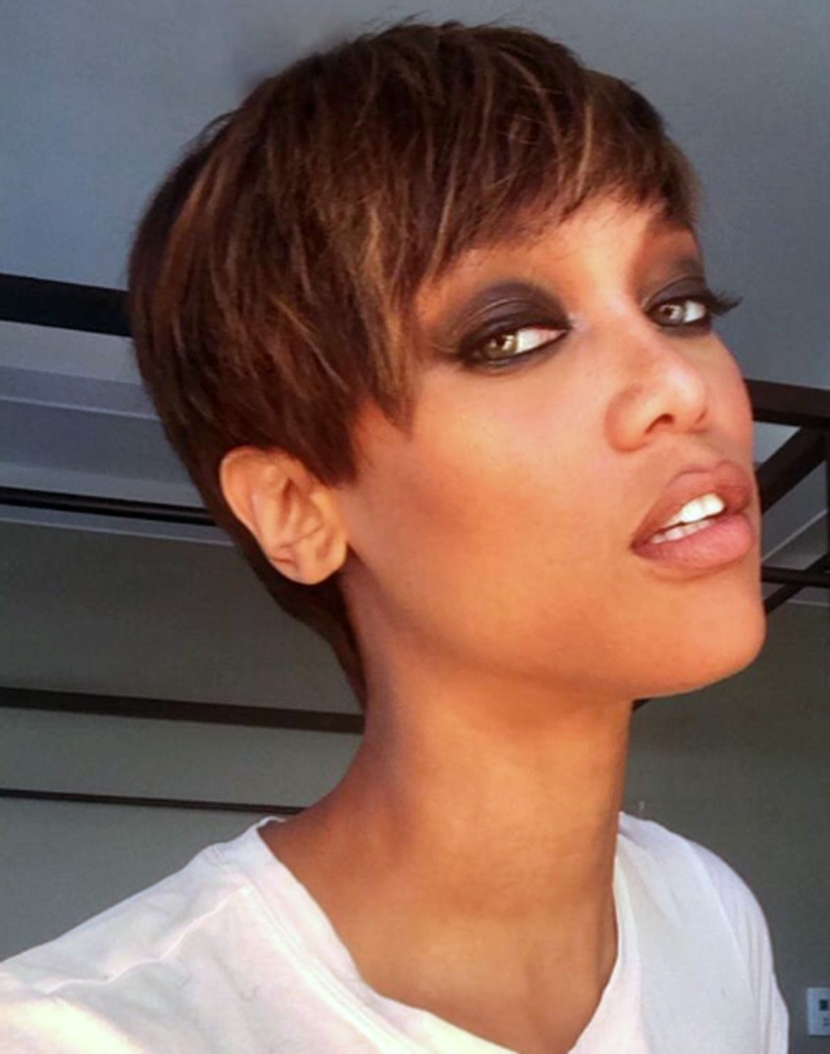 Tyra Banks' Hottest Hairstyles Through The Years | Tyra Bank, Pixie Intended For Tyra Banks Short Hairstyles (View 11 of 25)