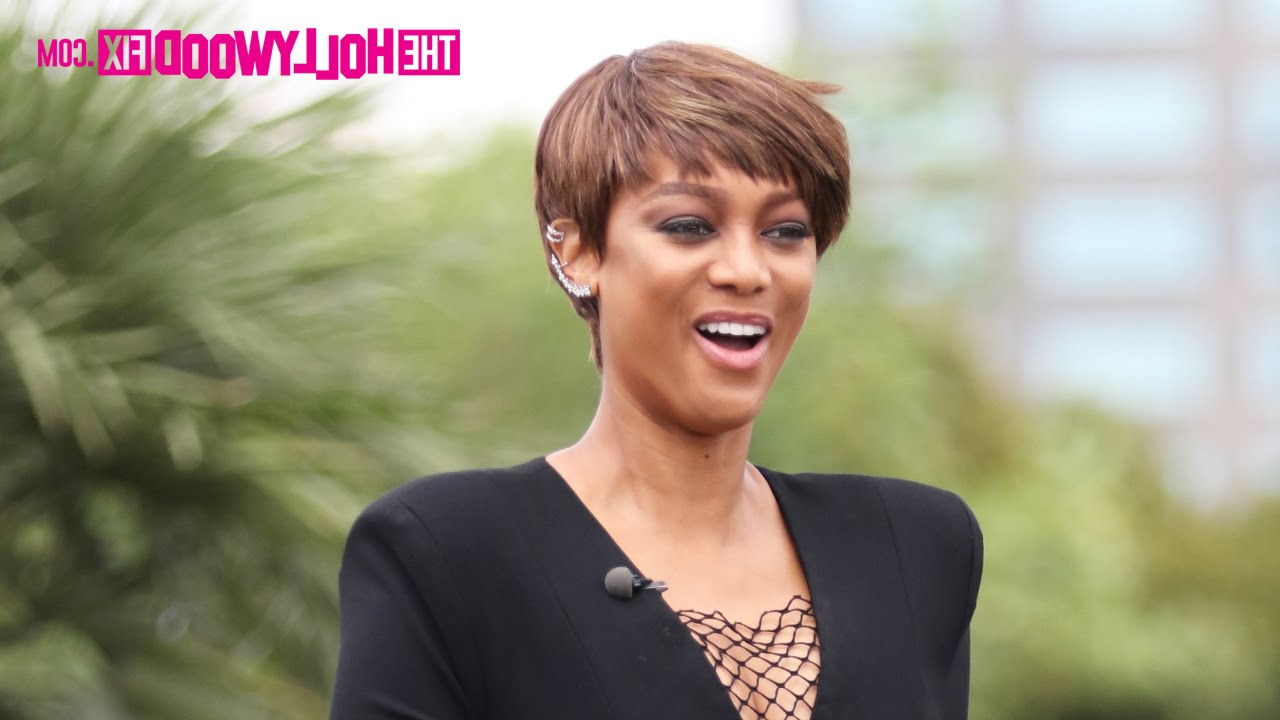 Tyra Banks Shows Off Her Short Haircut In An All Black Bodysuit Intended For Tyra Banks Short Hairstyles (View 4 of 25)