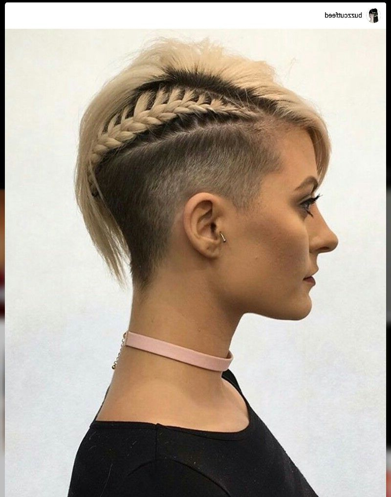 Undercut Hairstyles, Side Cut, Shaved Sides, Side Braid, Pixie Cut With Regard To Short Haircuts With Shaved Sides (View 8 of 25)