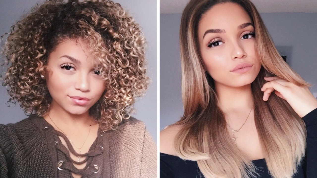 Updated Blow Dry Routine | How To Blowdry Curly Hair Straight Intended For Blow Dry Short Curly Hair (View 4 of 25)