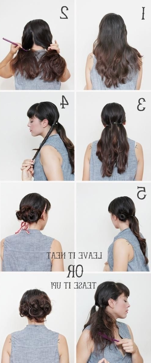 Updo Hairstyles Tutorial: Messy Bun Updos | Hair Style | Pinterest In Twisted Retro Ponytail Updo Hairstyles (View 7 of 25)
