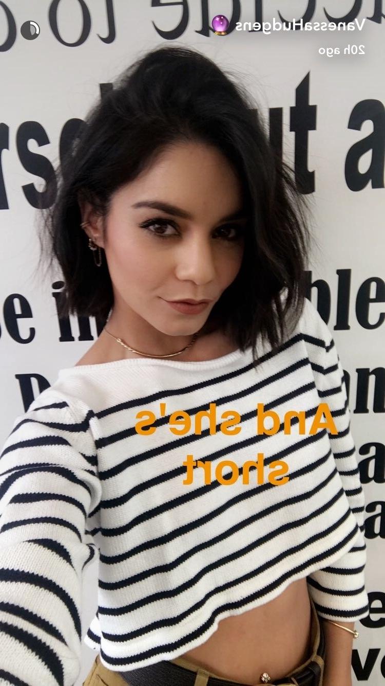 Vanessa Hudgens Cuts Hair Into Bob | Teen Vogue Regarding Vanessa Hudgens Short Hairstyles (View 6 of 25)