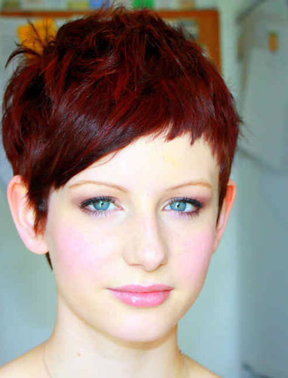 Very Short Haircuts Red Hair Color Pixie Hairstyles – Hairstyles Regarding Short Haircuts With Red Hair (View 19 of 25)