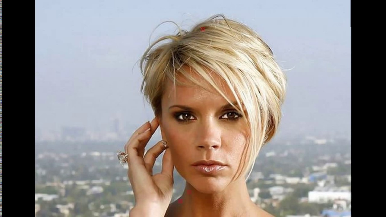 Victoria Beckham Short Blonde Haircut – Youtube In Victoria Beckham Short Hairstyles (View 18 of 25)