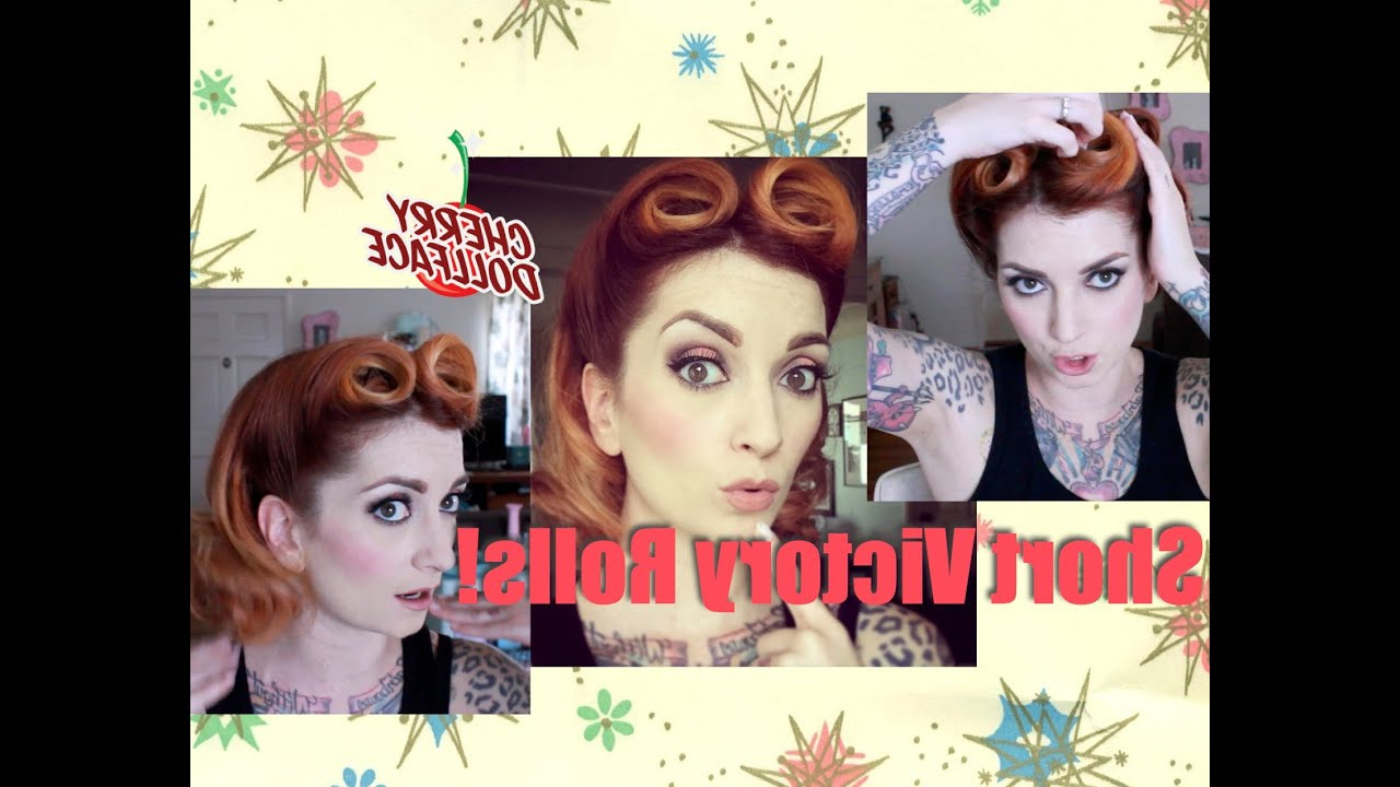 Victory Rolls For Short Hair! Vintage Hair Tutorialcherry Within Vintage Hairstyle For Short Hair (View 23 of 25)