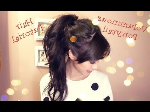 Voluminous Ponytail Hair Tutorial – Youtube Intended For Intricate And Messy Ponytail Hairstyles (View 23 of 25)