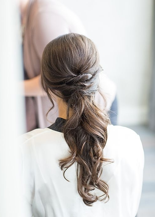 Wedding Hairstyles: 8 Luxe Looks Suited To Every Bridal Style For Tangled And Twisted Ponytail Hairstyles (View 12 of 25)
