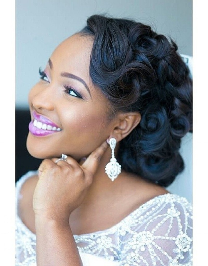 Wedding Hairstyles For Black Women, African American Wedding Haircuts Throughout Soft Short Hairstyles For Black Women (View 15 of 25)