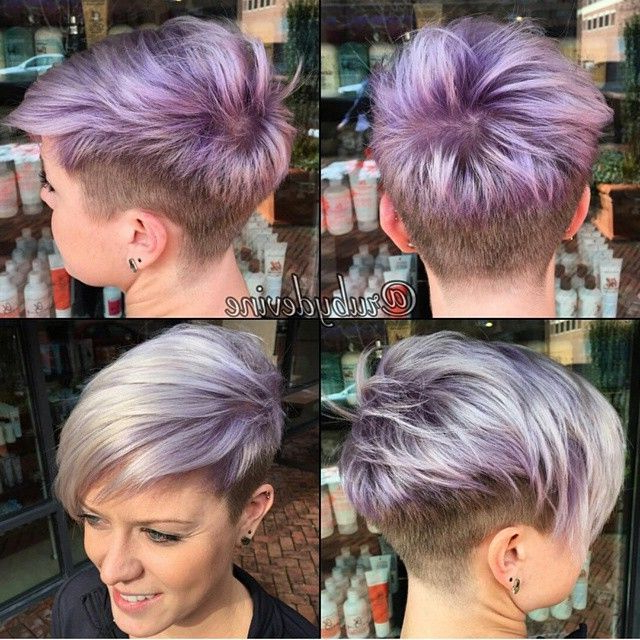 What Is The Best Hairstyle For A Round Chubby Face | Pixie Inside Edgy Purple Tinted Pixie Haircuts (View 25 of 25)