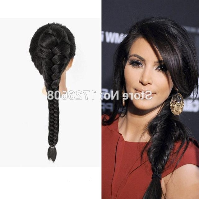 Wholesale 20 Long Synthetic Twist Plait Clip On Ponytail Hair Regarding Fishtail Ponytails With Hair Extensions (View 23 of 25)