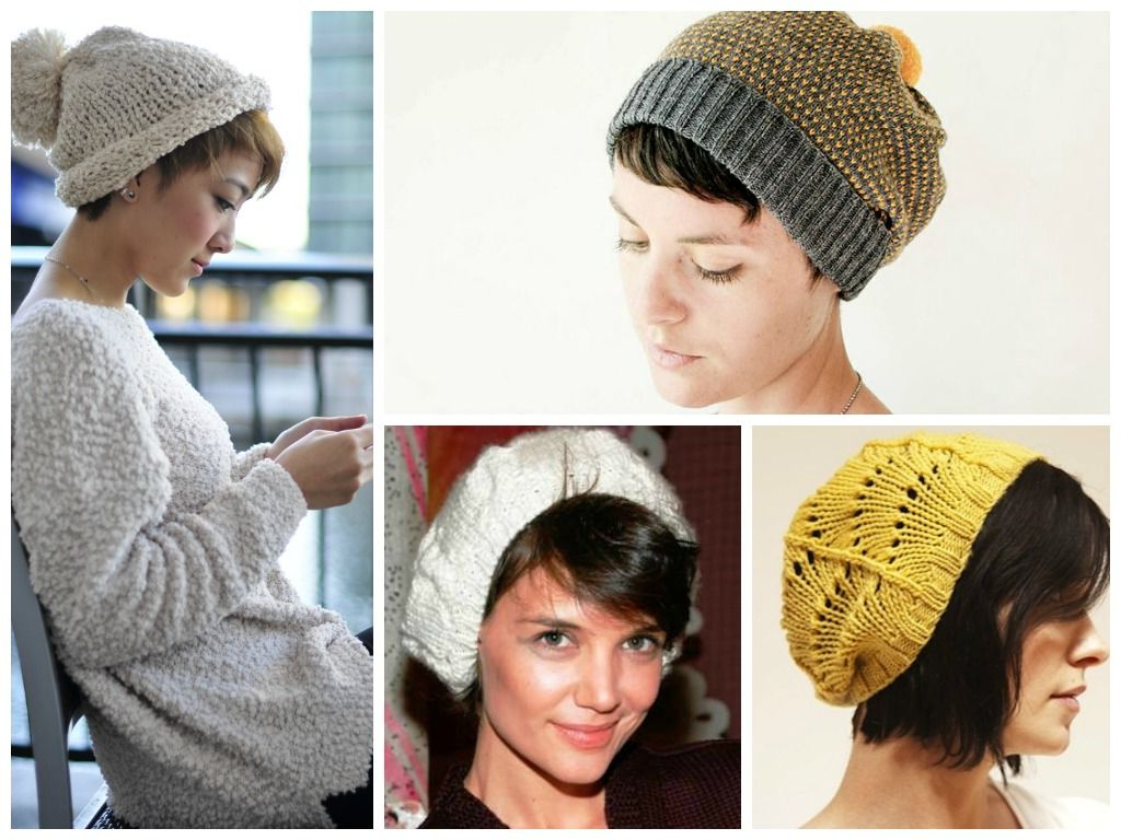 Women With Short Hair Wearing Oversized Floppy Hats | Knitted/cotton In Short Hair Graduation Cap (View 16 of 25)